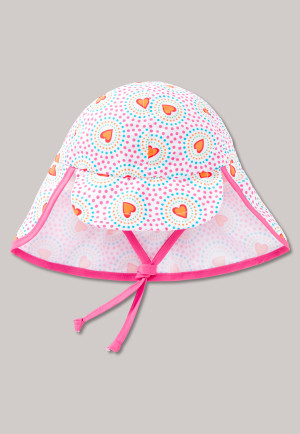 Baby bonnet woven LSF40+ hearts multicoloured - Heart Bubbles