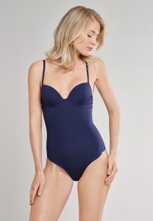 Maillot de bain à armatures et bretelles réglables bleu amiral - Mix & Match Tropic Paradise