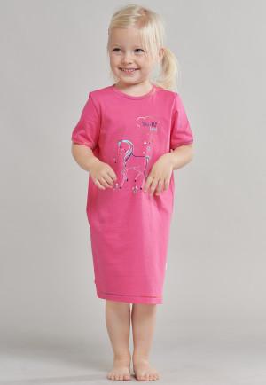 Chemise de nuit manches courtes licorne rose vif - Girls World