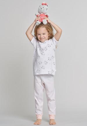 ea5497f3fe155 Pyjama 3 pièces T-shirt Pantalon court Pantalon à taille chats multicolore  - Cat Zoe