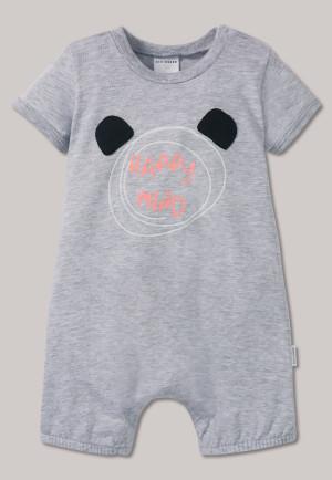 92e5ead2435a Romper short panda bear heather gray - Happy Mind
