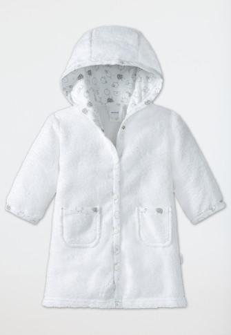 Baby bathrobe unisex terrycloth hood sheep white - Original Classics