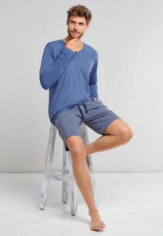 Bermudashorts Streifen jeansblau - Mix+Relax