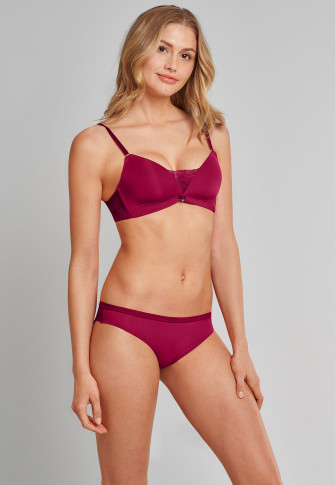 Brazil-Slip Micro Spitze cranberry - Sustainable Lace