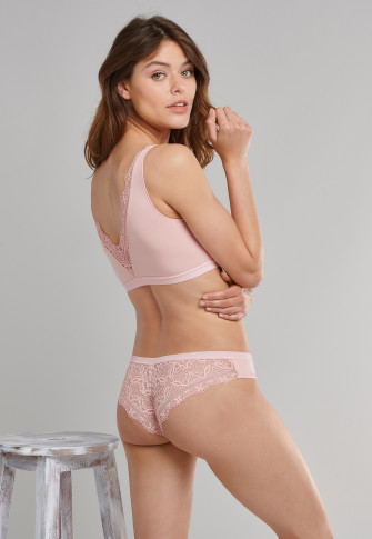 Bustier Spitze Modal rosa - Modal and Lace