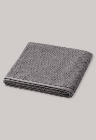 Bath towel textured stripes 70 x 140 graphite - SCHIESSER Home