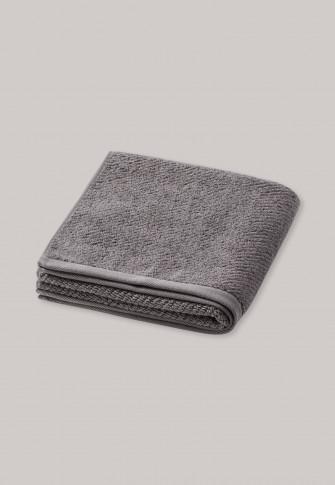 Hand towel textured stripes 50 x 100 graphite - SCHIESSER Home