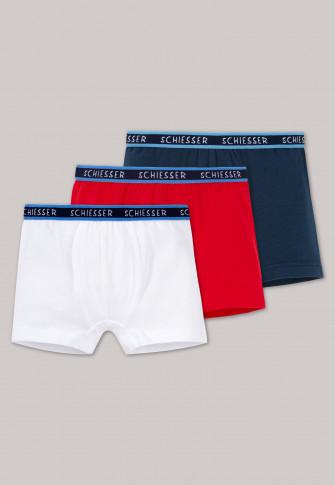 Trunks 3-pack dark blue / white / red - Original Classics