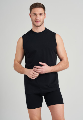 2-pack black muscle shirts - Essentials