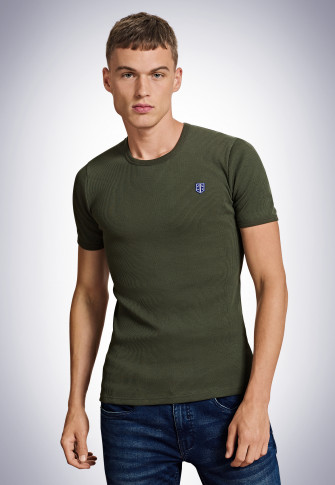 Tee-shirt manches courtes olive - Revival Friedrich