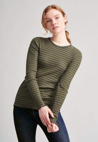 Shirt langarm oliv - Revival Helena