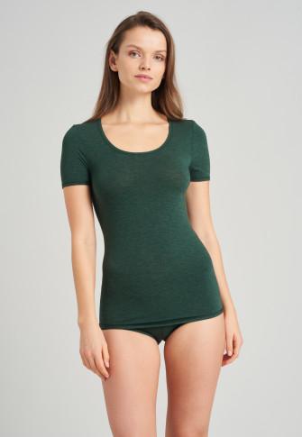 Shirt kurzarm dunkelgrün - Personal Fit