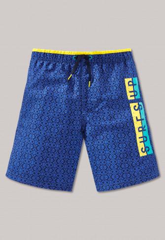 Swim trunks woven fabric dark blue/yellow - Swim Sport