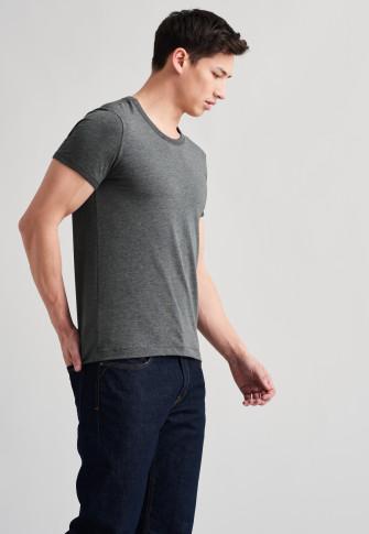 T-shirt antraciet gemêleerd - Revival Lorenz