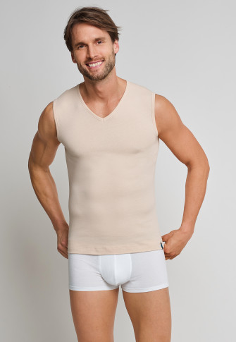 Tank tops 2-pack V-neck clay - 95/5
