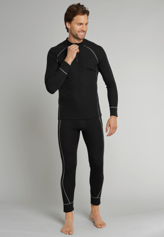 Underpants long functional underwear extra warm black - Sport Thermo Plus