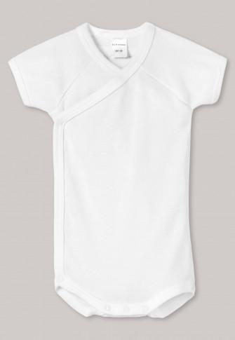 Body croisé manches courtes tissu côtelé blanc - Original Classics