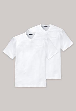 American T-Shirts V-Ausschnitt 2er-Pack weiß – Essentials