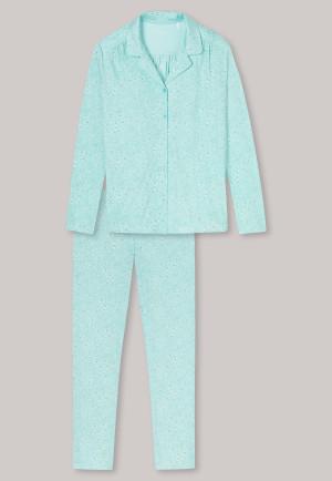 Pyjama lang interlock knoopsluiting munt - Comfort Fit