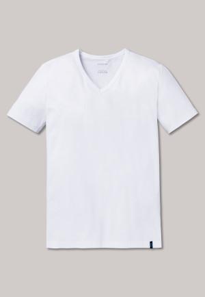 Shirt korte mouwen wit - 95/5