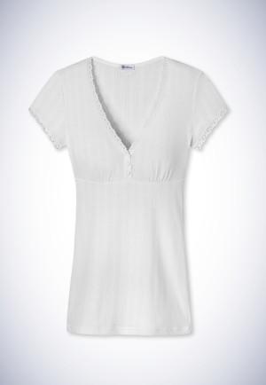 Short-sleeved shirt white - Revival Agathe