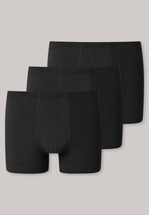 Boxer briefs 3-pack organic cotton black - 95/5