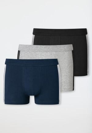 Boxer briefs 3-pack organic cotton stripes multicolored - 95/5