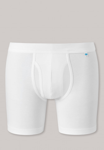 Cyclist Shorts Eingriff weiß - Long Life Cotton