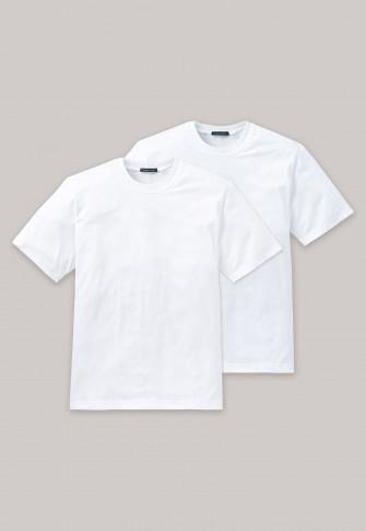 be8d2bf8ef9811 American T-Shirts Rundhals 2er Pack weiß - Essentials | SCHIESSER
