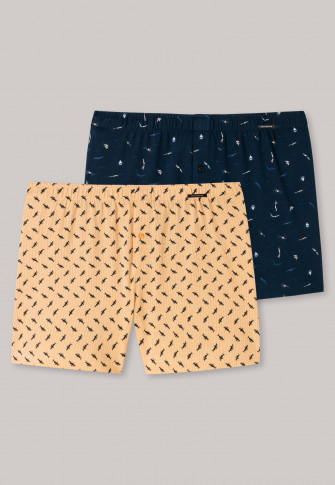 Boxershorts 2-pack sharks swimmers patterned multicolored - fun prints