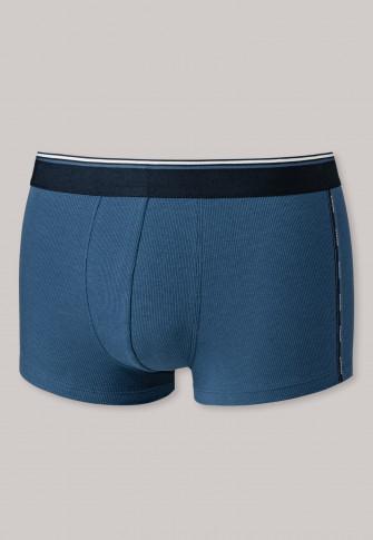 Boxers double côte Tencel coton bio denim bleu - Sustainable Rib