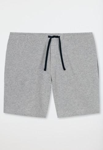 Long Boxer Jersey grau-meliert - Mix+Relax