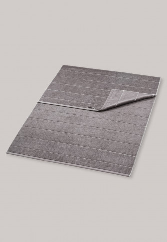 Sauna towel striped 90cm x 200cm graphite- SCHIESSER Home