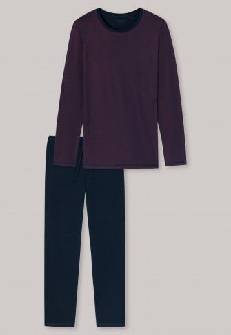 Pyjama long rouge - piqué