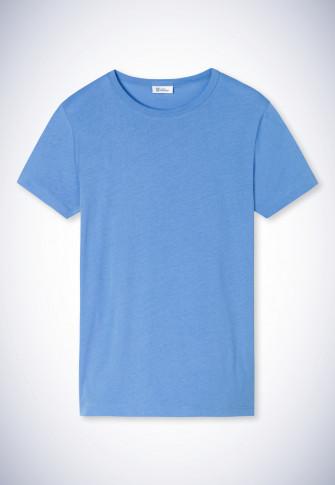Shirt korte mouwen blauw - Revival Carla