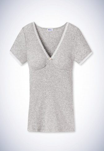 Shirt short-sleeved heather gray - Revival Maike