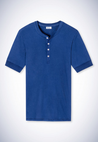 Shirt kurzarm indigo - Revival Karl-Heinz