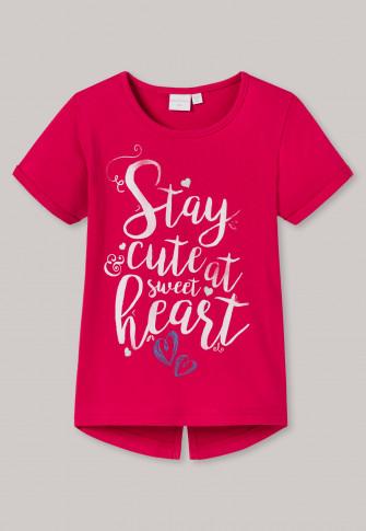 Shirt kurzarm rot bedruckt - Cool Casual