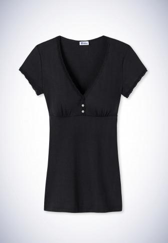 Shirt kurzarm schwarz - Revival Agathe