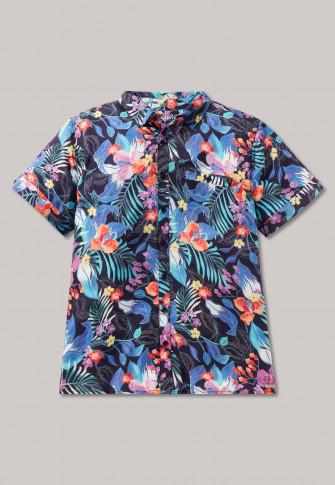Short Sleeved Shirt Viscose Woven Fabric 9