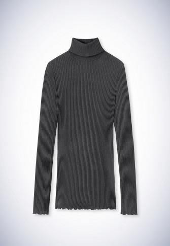 Shirt langarm anthrazit-meliert - Revival Helena