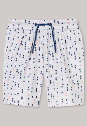 Shorts Jersey grau-meliert bedruckt - Mix+Relax
