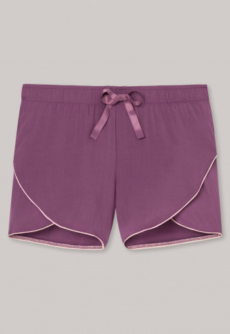 Shorts viscose weave overlapping pant legs piping berry - Mix & Relax