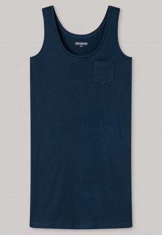 Sleepshirt breast pocket petrol blue - Good Night Story