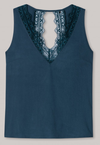 Strappy top lace viscose petrol blue - Mix & Relax
