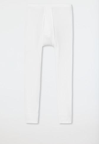 Unterhose 3/4-lang mit Eingriff weiß - Original Doppelripp