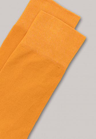 Herrensocken merzerisierte Baumwolle gelb - selected! premium