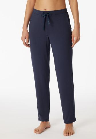 Pantaloni lunghi / extra lunghi modal blu - Mix + Relax