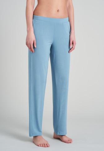 Pantalone lounge lungo modal taglio Marlene azzurro - Mix + Relax