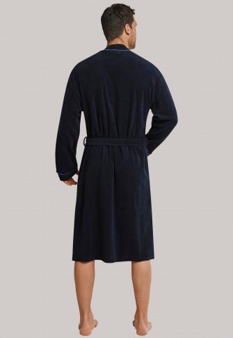 Bathrobe, terry cloth, navy - Roger Moore